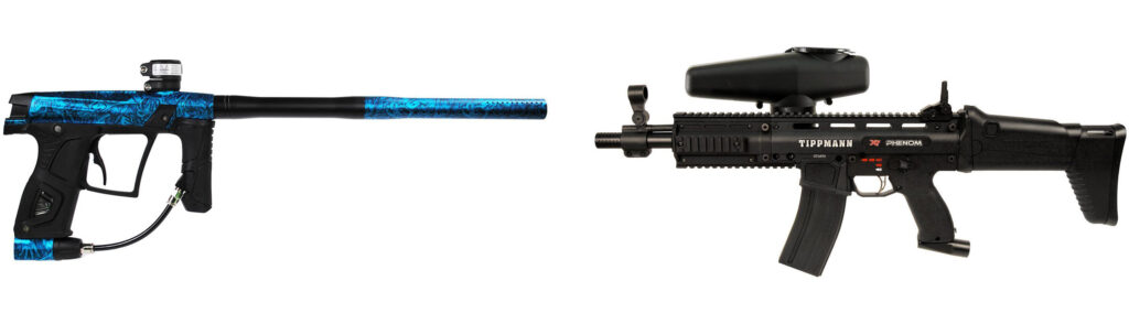 Electro Pneumatic vs. Mechanical paintball gun