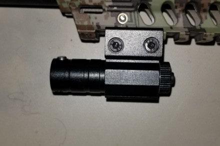 paintball laser on pistol